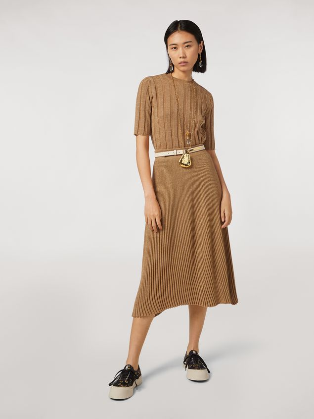 Marni Lurex ribbed skirt Woman - 1