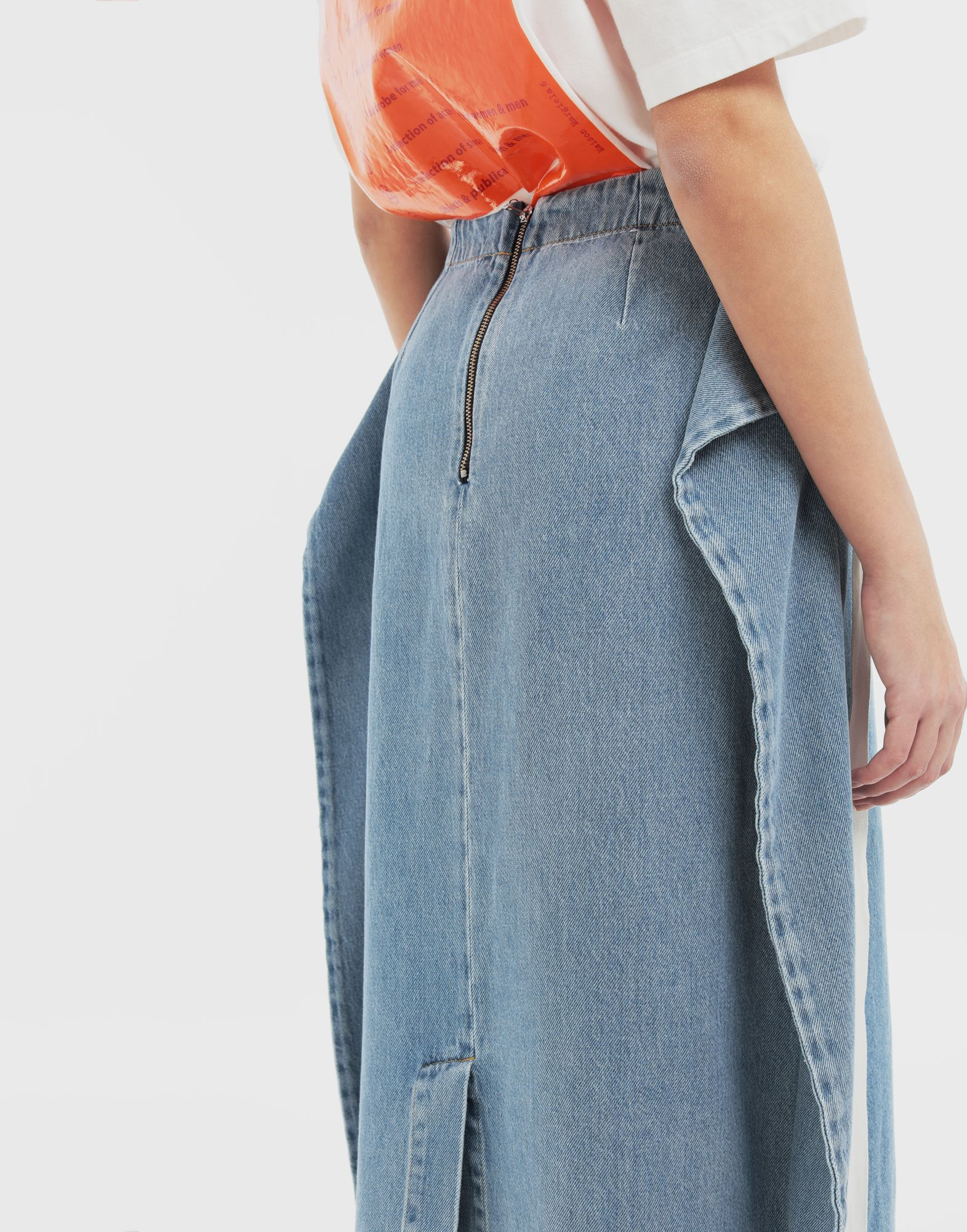 MM6 MAISON MARGIELA Dual-wear skirt Denim skirt Woman a