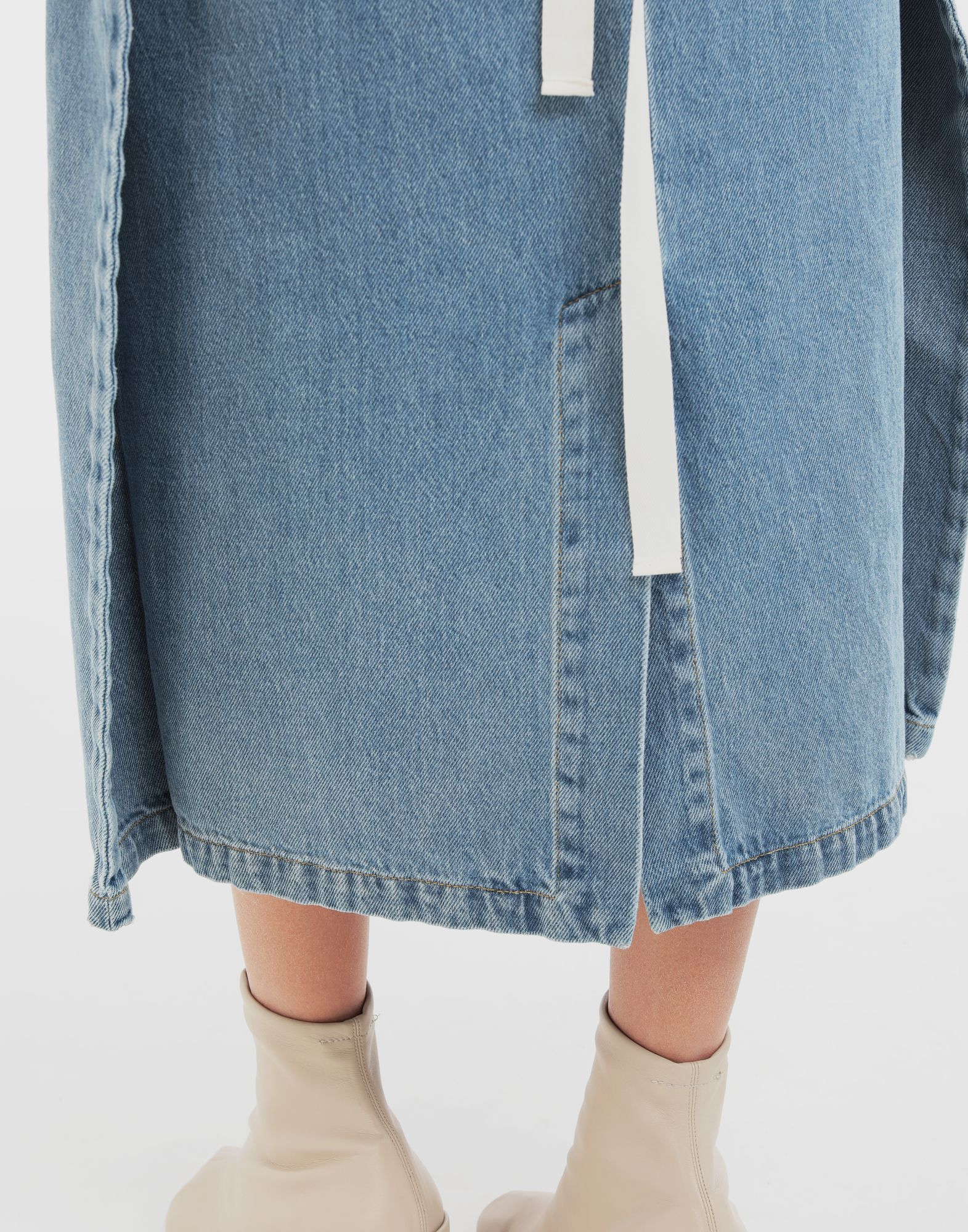MM6 MAISON MARGIELA Dual-wear skirt Denim skirt Woman b