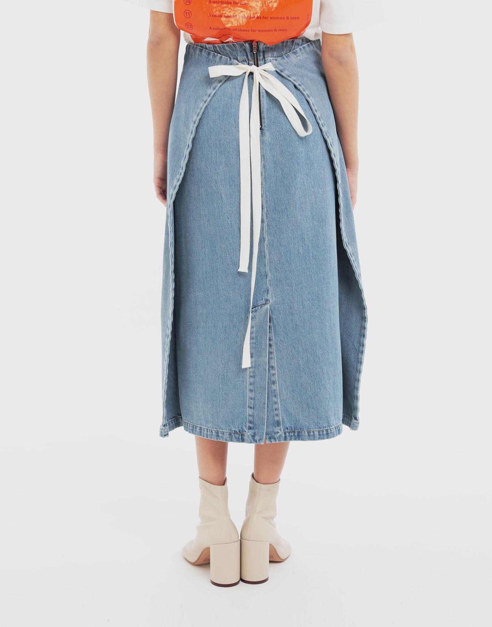 MM6 MAISON MARGIELA Юбка 2 в 1 Джинсовая юбка Для Женщин e