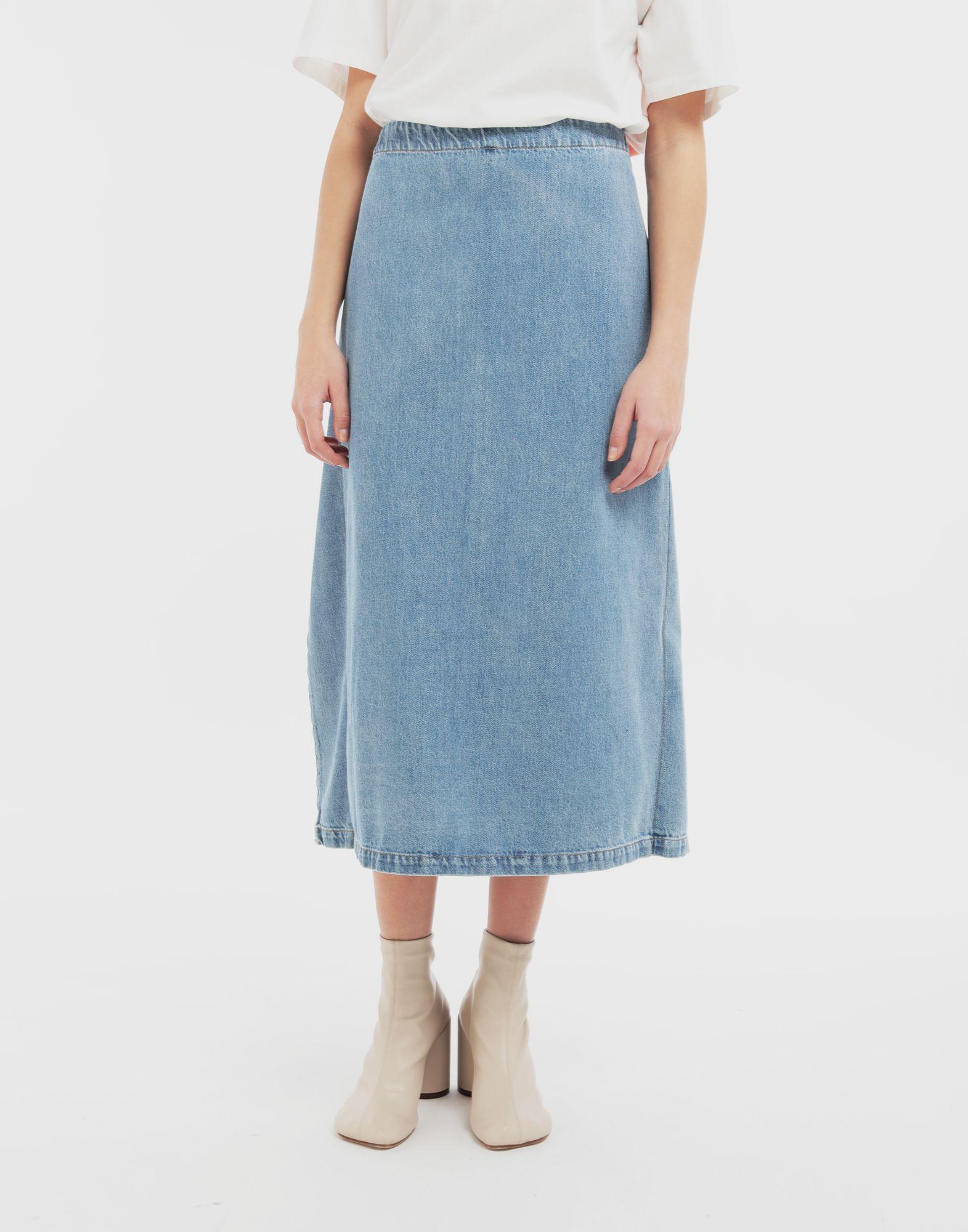 MM6 MAISON MARGIELA Юбка 2 в 1 Джинсовая юбка Для Женщин r