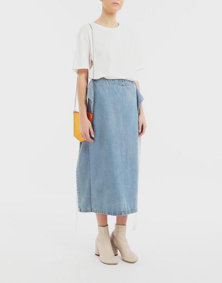 MM6 MAISON MARGIELA Юбка 2 в 1 Джинсовая юбка Для Женщин d