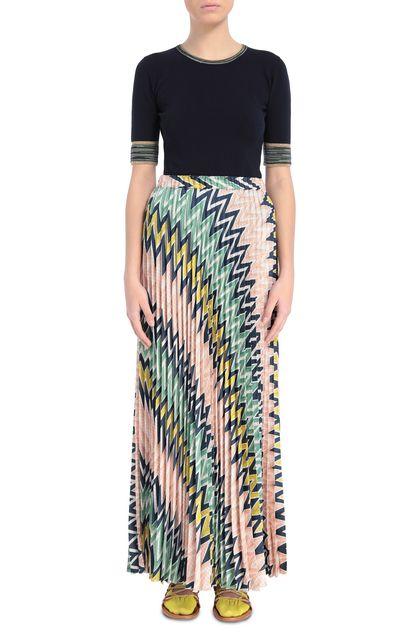 M MISSONI Falda Azul oscuro Mujer - Parte posterior