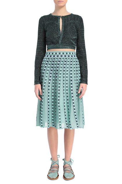 M MISSONI Skirt Sky blue Woman - Back