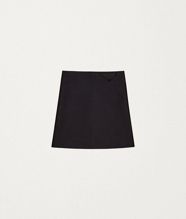 BOTTEGA VENETA SKIRT IN BONDED SATIN Skirt Woman fp