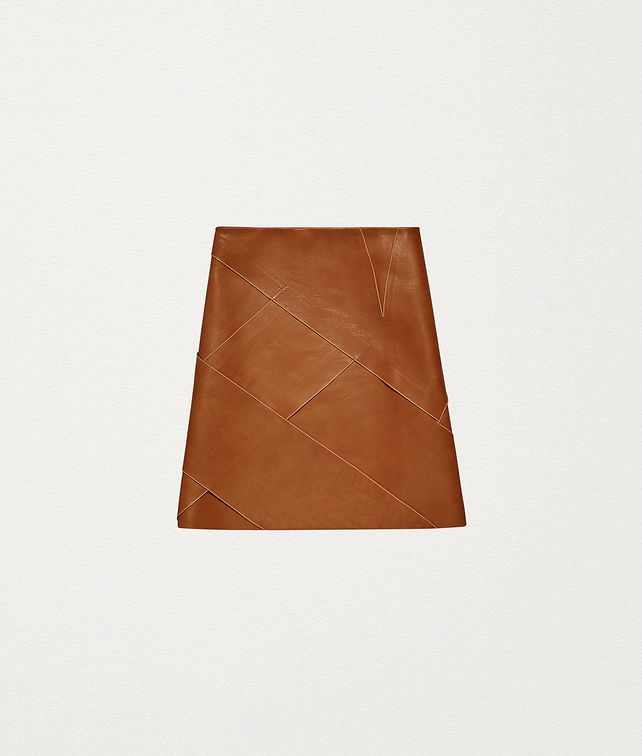 BOTTEGA VENETA SKIRT IN CALFSKIN AND NAPPA Skirt Woman fp