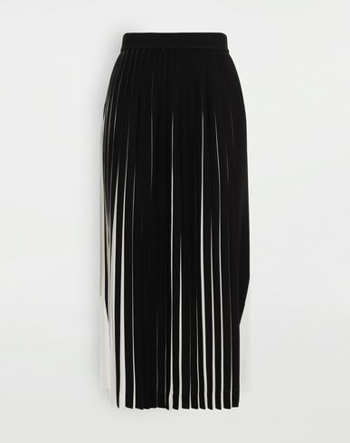 MAISON MARGIELA Two-tone pleated skirt 3/4 length skirt Woman f