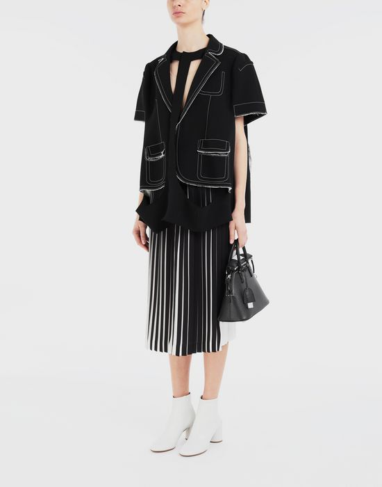 MAISON MARGIELA Two-tone pleated skirt 3/4 length skirt [*** pickupInStoreShipping_info ***] d