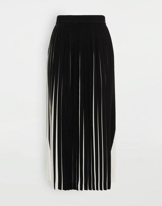 MAISON MARGIELA Two-tone pleated skirt 3/4 length skirt [*** pickupInStoreShipping_info ***] f