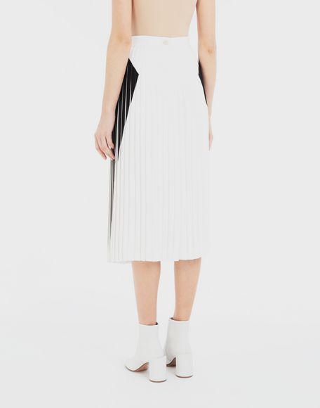 MAISON MARGIELA Two-tone pleated skirt 3/4 length skirt Woman e