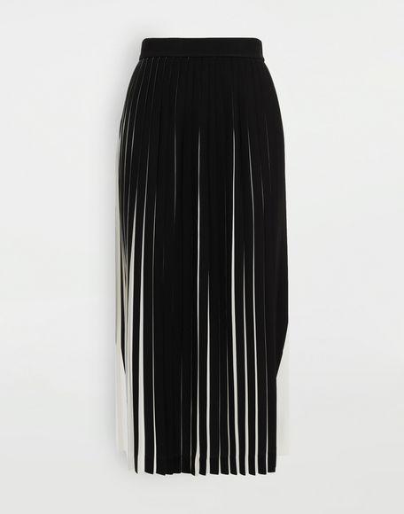 MAISON MARGIELA Two-tone pleated skirt 3/4 length skirt Woman f