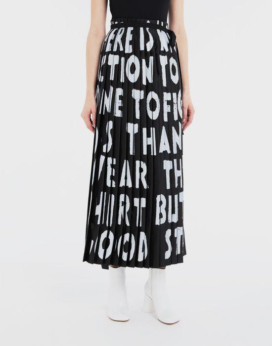 MM6 MAISON MARGIELA Charity AIDS-print pleated skirt  Long skirt [*** pickupInStoreShipping_info ***] r