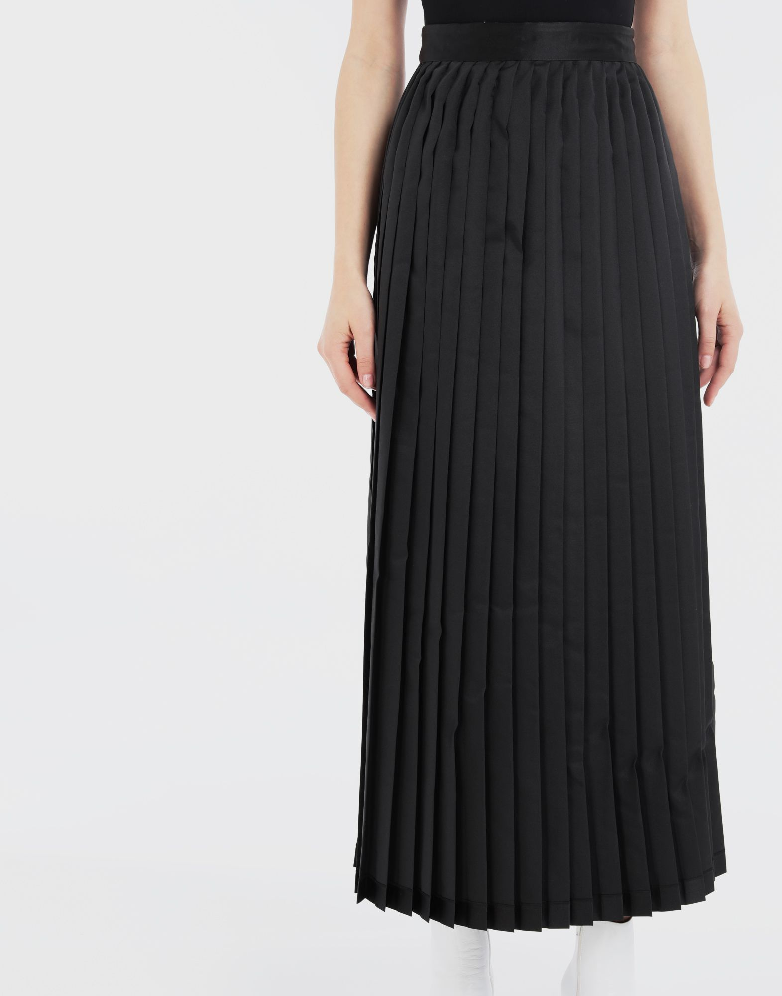 MM6 MAISON MARGIELA Charity AIDS-print pleated skirt  Long skirt Woman b