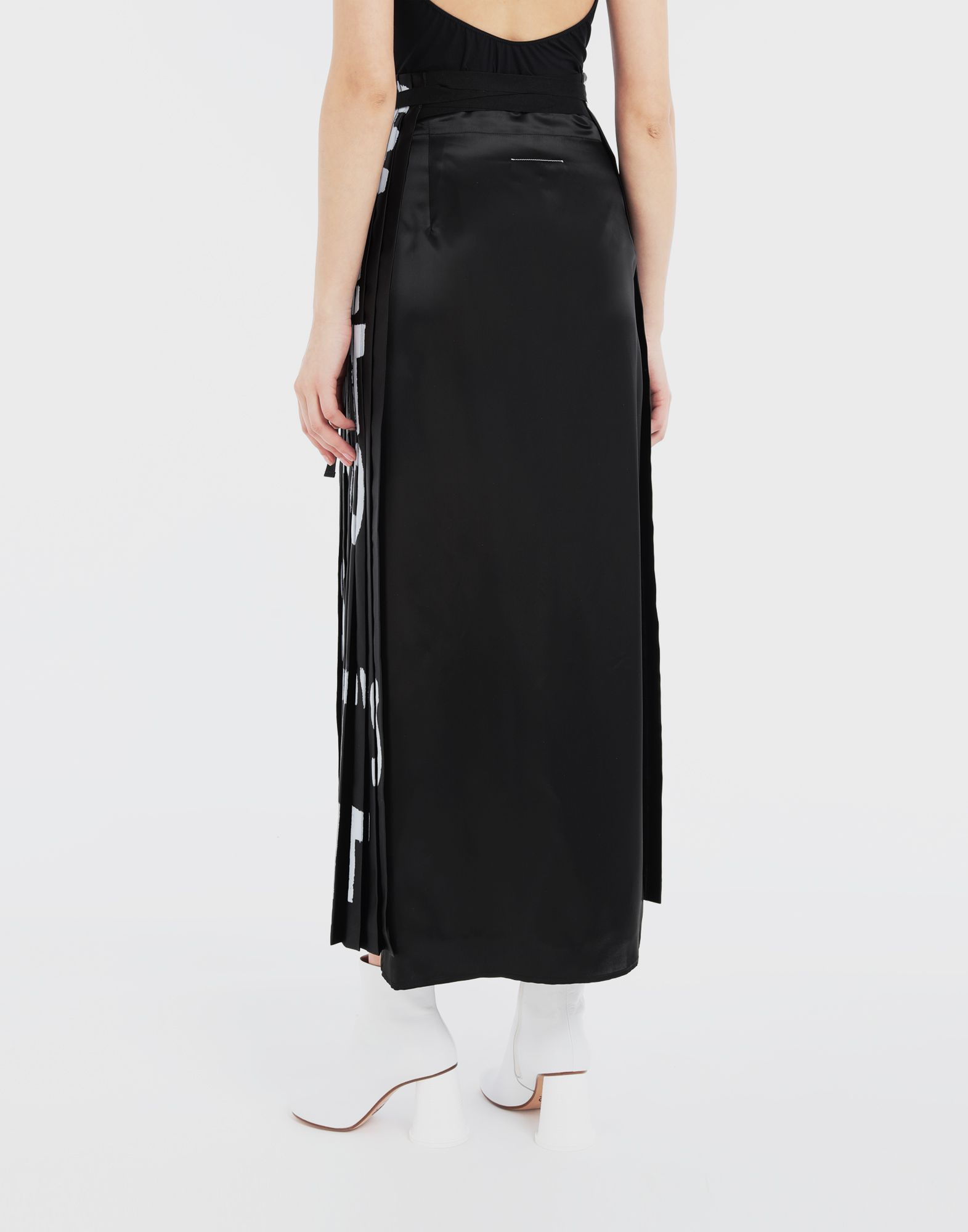 MM6 MAISON MARGIELA Charity AIDS-print pleated skirt  Long skirt Woman e