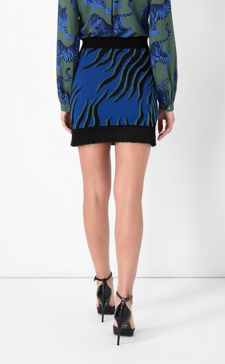 JUST CAVALLI Lurex miniskirt Skirt Woman a