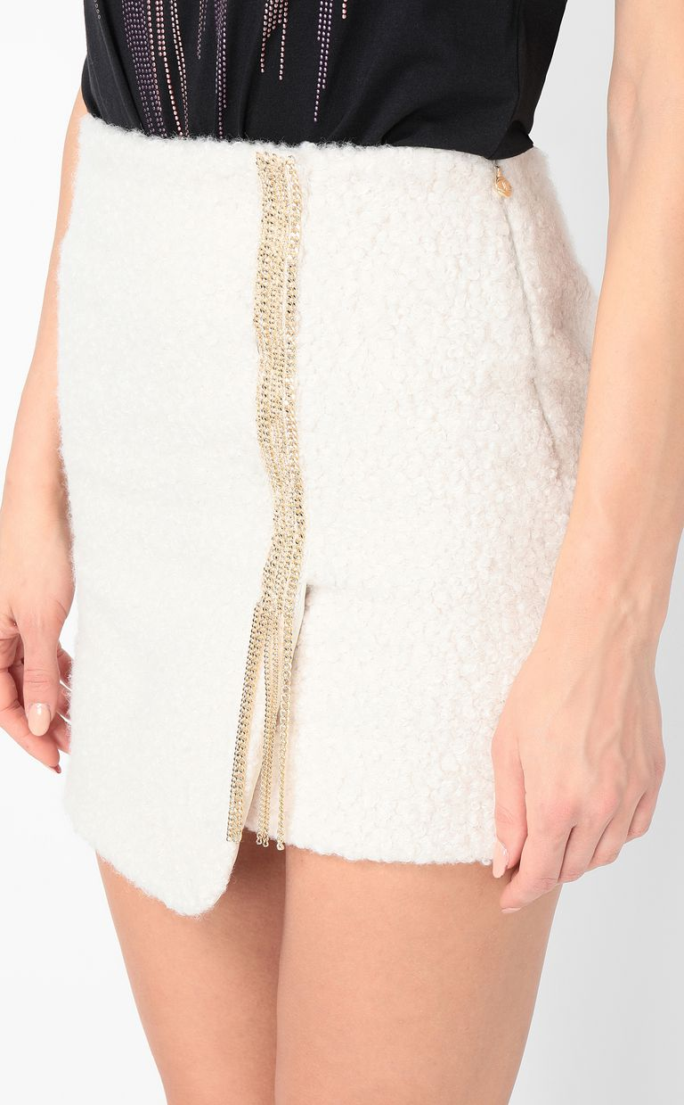 JUST CAVALLI Miniskirt with chain Skirt Woman e