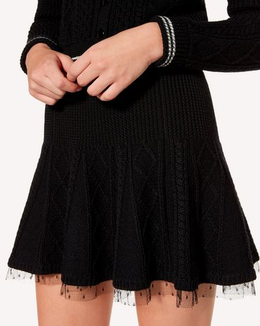 REDValentino SR3KGA054EE 0NO Mini skirt Woman e