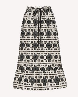 REDValentino Printed skirt Woman RR0RAA75SQU 0NO a