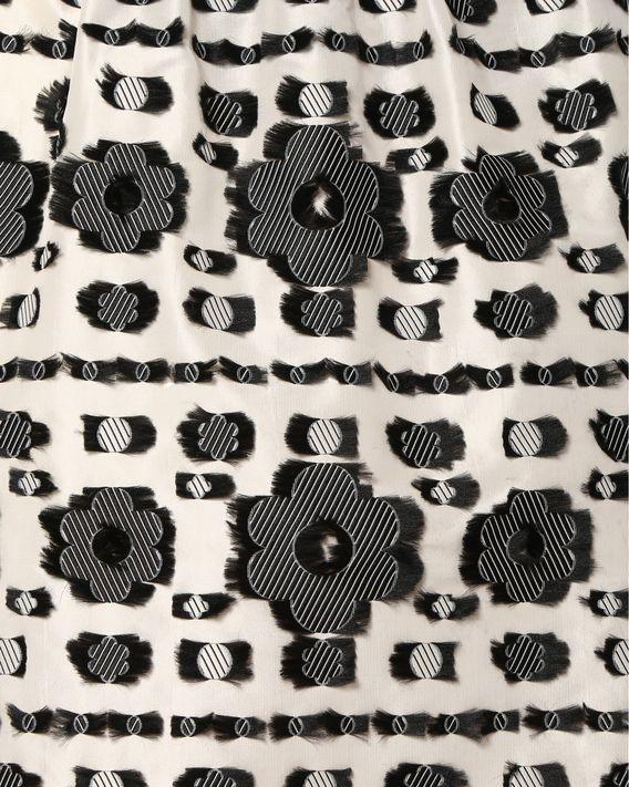 REDValentino Jupe en jacquard fil coupé avec motif floral