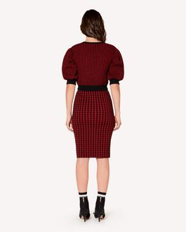 REDValentino Check lurex jacquard stretch viscose skirt