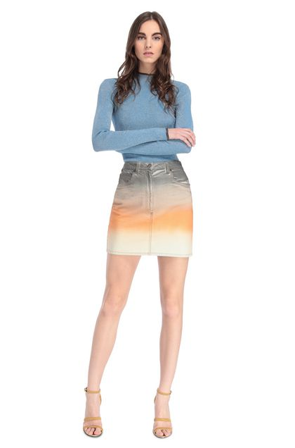 MISSONI Miniskirt Orange Woman - Back
