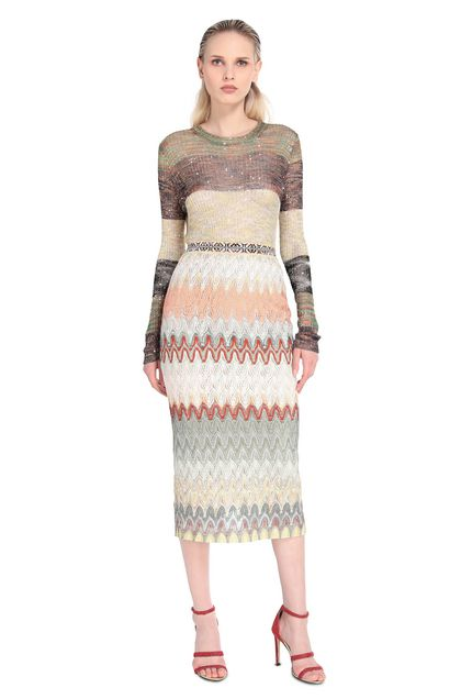 MISSONI Skirt Military green Woman - Back