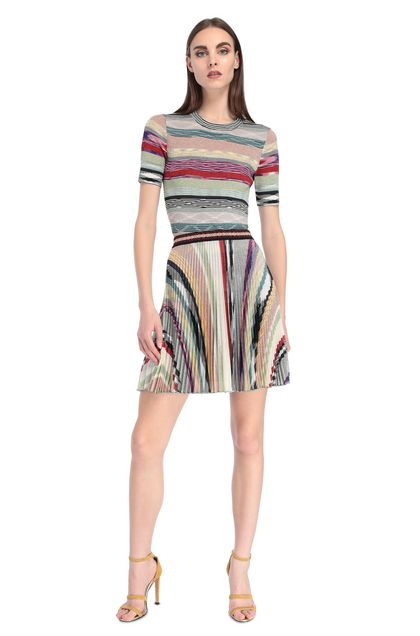 MISSONI Miniskirt Beige Woman - Back