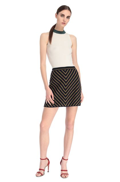 MISSONI Miniskirt Dark blue Woman - Back