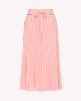 REDValentino Pleated double georgette skirt