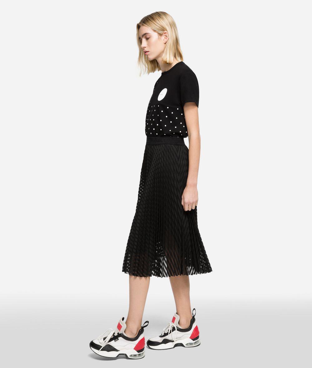KARL LAGERFELD K/Dots Pleated Midi Skirt Skirt Woman d