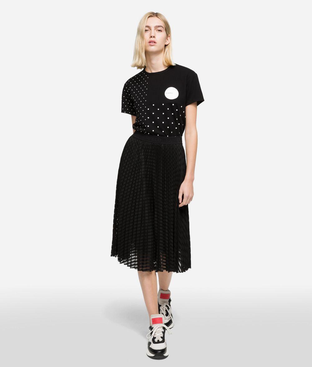 KARL LAGERFELD K/Dots Pleated Midi Skirt Skirt Woman f