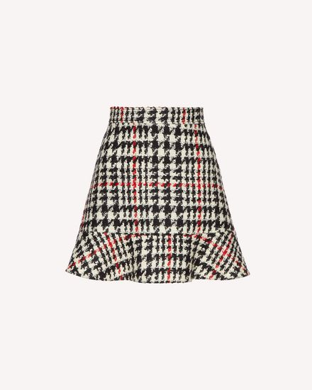 Wool hounds tooth skirt