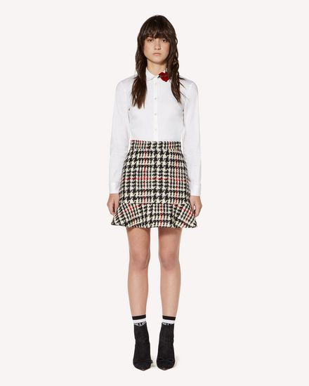 REDValentino Mini skirt Woman SR3RAC45499 0NO f