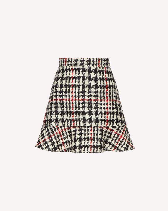 REDValentino Houndstooth wool skirt