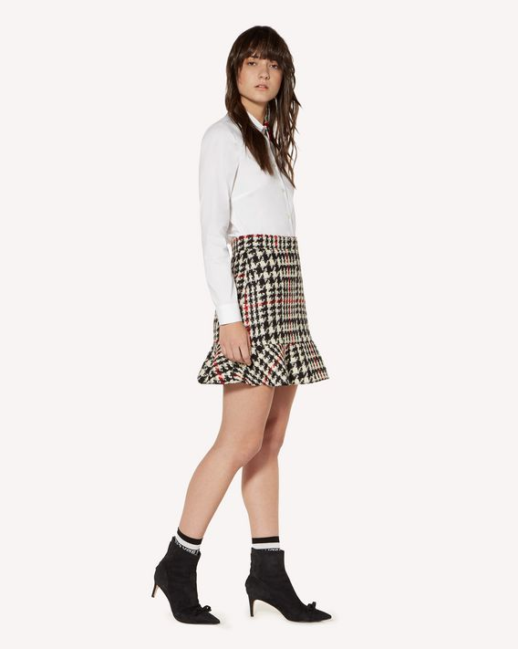 REDValentino Wool hounds tooth skirt