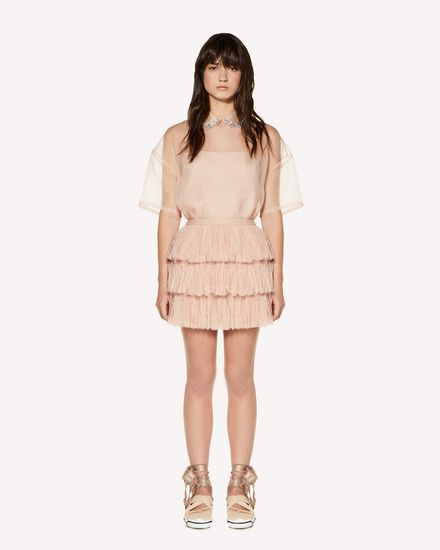 REDValentino Mini skirt Woman SR3RA00K4DT N17 f