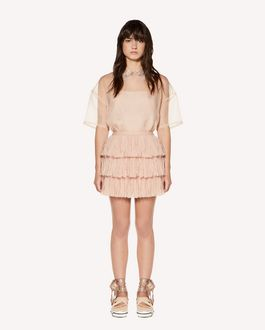 REDValentino Fringes detail tulle mini skirt