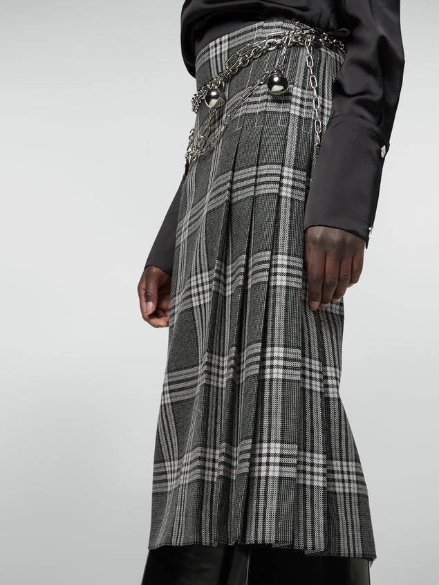 Marni Tulip skirt in chequered motif yarn-dyed wool Woman - 4