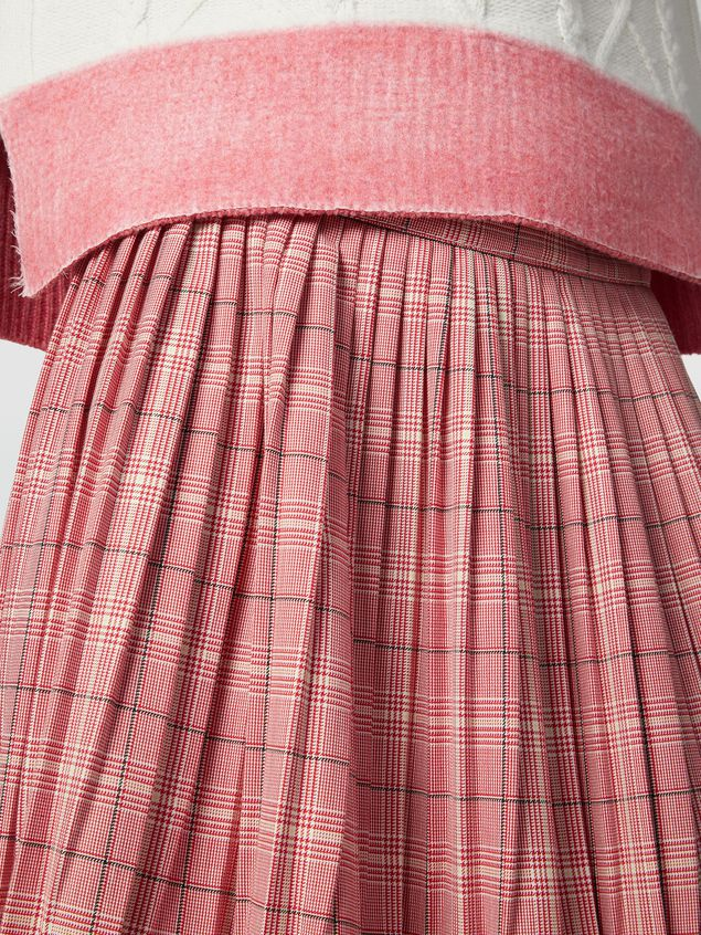 Marni Pleated skirt in yarn-dyed techno wool Houndstooth pattern Woman - 4