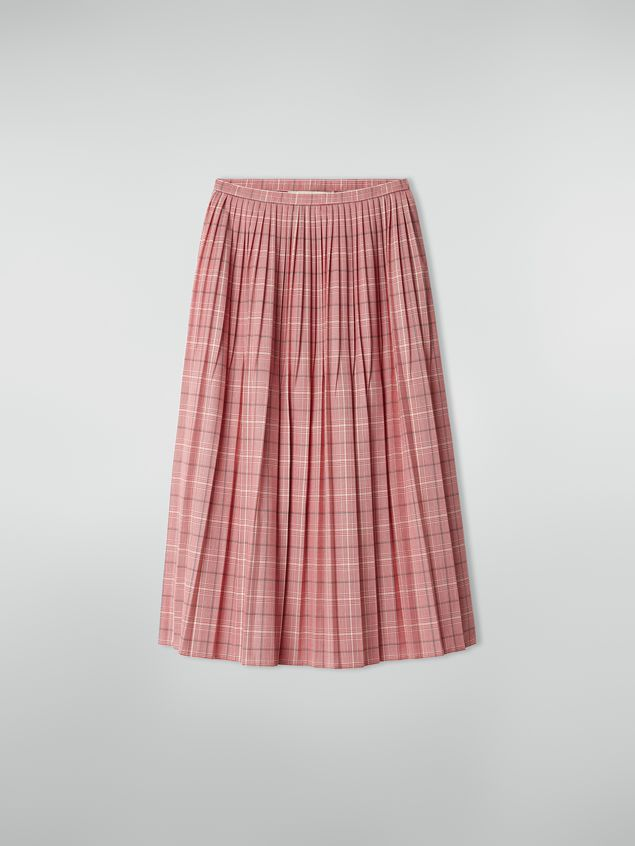 Marni Pleated skirt in yarn-dyed techno wool Houndstooth pattern Woman - 2