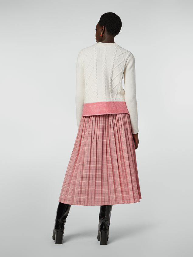 Marni Pleated skirt in yarn-dyed techno wool Houndstooth pattern Woman - 3