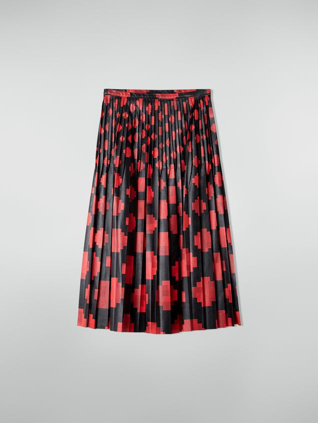 Marni Pleated skirt in faux leather Otti print Woman - 2