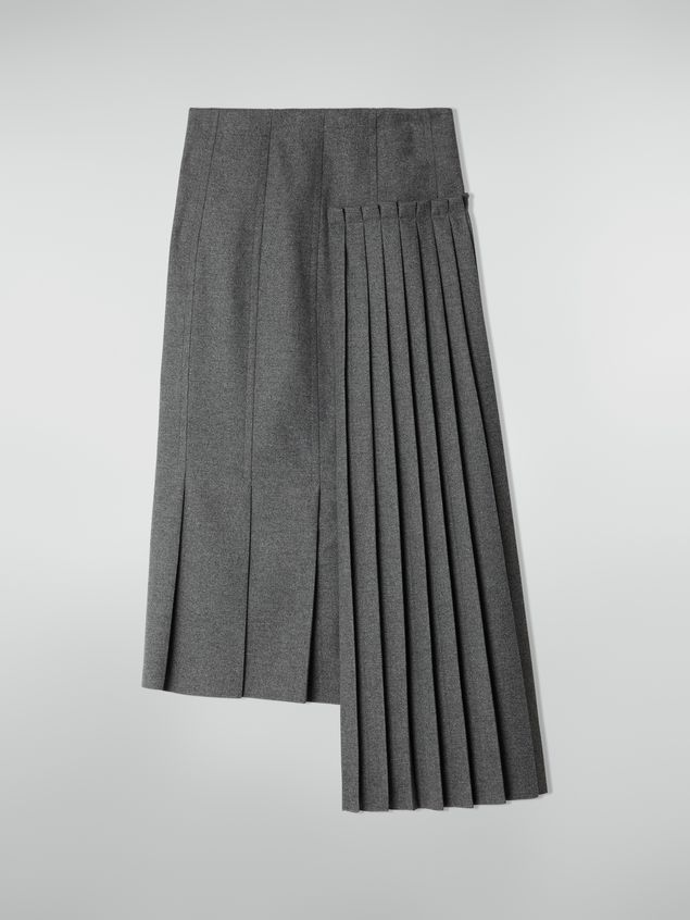 Marni Pleated skirt in compact wool flannel Woman - 2