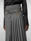Marni Pleated skirt in compact wool flannel Woman - 5