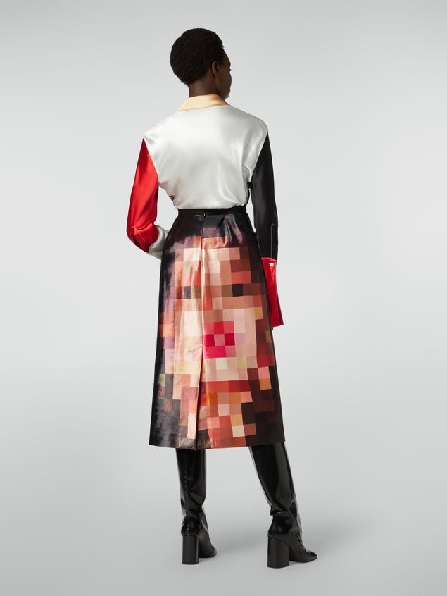 Marni A-line skirt in duchesse Pixel Grace print Woman - 3