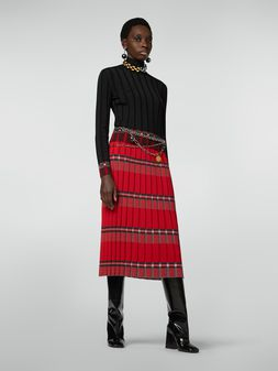Marni Flat-ribbed skirt in twisted wool Woman