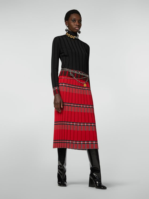 Marni Flat-ribbed skirt in twisted wool Woman - 1
