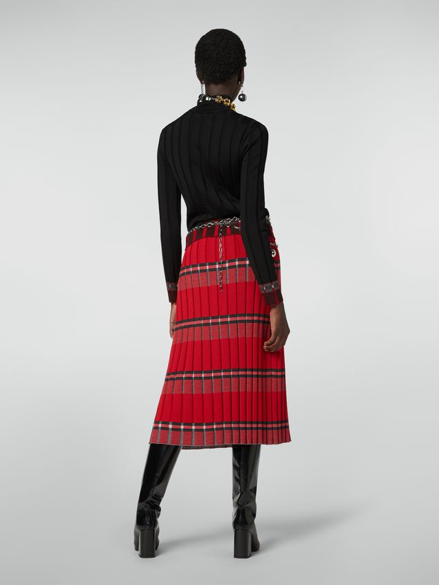 Marni Flat-ribbed skirt in twisted wool Woman - 3