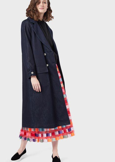 Long skirt in pekin