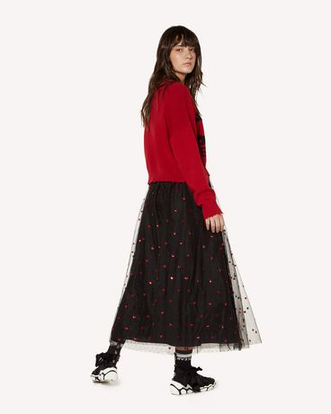 REDValentino SR3RA00J4CN 0NO Long and midi skirts Woman d